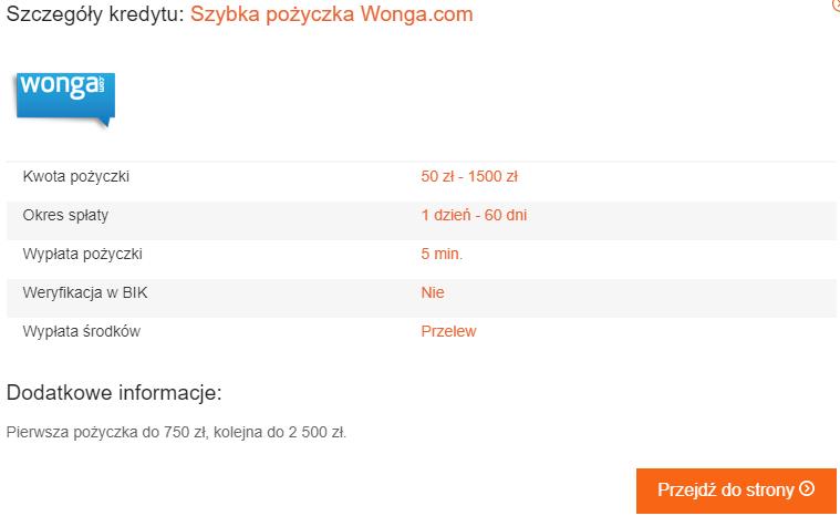 wonga pozyczka